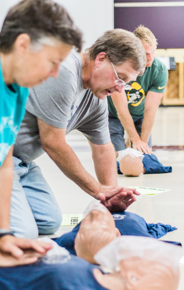 Teaching CPR with RH Sanders & Associates CPR AED Illinois Wisconsin Colorado